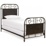 Universal Furniture Paula Deen Down Home Twin Garden Gate Bed in Oatmeal 192300