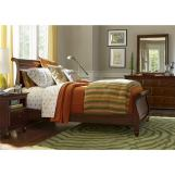 Universal Smartstuff Classics 4.0 4pc Sleigh Bedroom Set in Classic Cherry CODE:UNIV10 for 10% Off