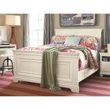 Universal Smartstuff Classics 4.0 Full Panel Bed in Summer White 131A040
