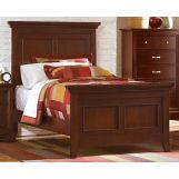 Homelegance Glamour Twin Panel Bed in Espresso 1349T-1