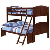 Coaster Parker Youth Twin/Full Bunk Bed in Cappuccino 460212