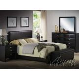 Acme Ireland Platform Bedroom Set in Black