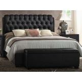 Acme Ireland Queen PU Platform Bed in Black 14350Q