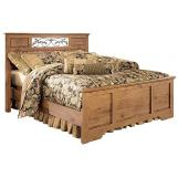 Bittersweet Queen Panel Bed in Pine Grain