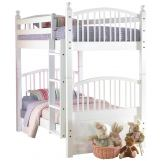 New Classic Bayfront Twin/Twin Spindle Bunk Bed in White Painted Finish 1415-519