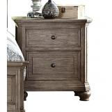 Homelegance Lavonia 2 Drawer Nightstand with Power Strip in Gray 1707-4