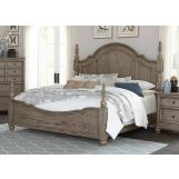 Homelegance Lavonia Queen Poster Bed in Gray 1707NP-1