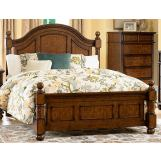 Homelegance Langston King Poster Bed in Brown Cherry 1746K-1EK
