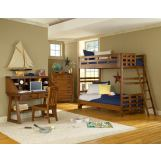 American Woodcrafters Heartland Collection Bunk Bedroom Set in Spice Brown 1800-SetB