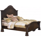 Emma Mason Signature Astro Park Cal King Panel Bed in Dark Wood