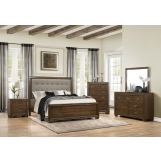 Homelegance Leavitt 4pc Panel Bedroom Set in Brown Cherry