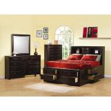 Coaster Furniture Phoenix Platform Storage Bedroom Set in Cappucino 200409