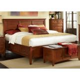 A-America Westlake Queen Storage Bed in Brown Cherry WSLCB5091
