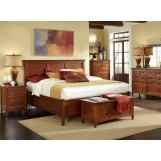 A-America Westlake Storage Bedroom Set in Brown Cherry