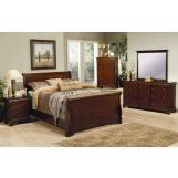 Coaster Versailles Sleigh Bedroom Set in Mahogany 201481