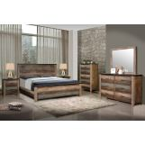 Coaster Furniture Sembene 4-Piece Platform Bedroom Set in Antique Multicolor