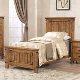 Coaster Furniture Brenner Twin Panel Bed in Rustic Honey