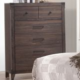 Coaster Furniture Richmond 5 Drawer Chest in Dark Grey Oak 205715