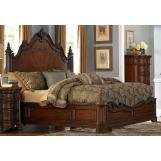 Homelegance Montvail King Mansion Bed in Rich Warm Cherry 2105K-1EK
