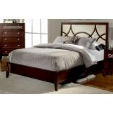 Homelegance Simpson Queen Platform Bed in Brown Cherry 2134-1