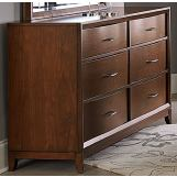Homelegance Kasler Dresser in Medium Walnut 2135-5