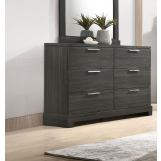 Acme Furniture Lantha 6 Drawer Dresser in Grey Oak 22035