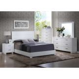 Acme Furniture Lorimar 4 Piece Panel Bedroom Set in White