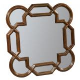 Hekman Vintage European Square Lattice Mirror in Vintage Brown 2-3273