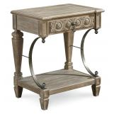 A.R.T Arch Salvage Gabriel Bedside Table in Parchment 233141-2802