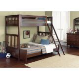 Liberty Furniture Abbott Ridge Youth 4 Piece Bunkbed Bedroom Set  in Cinnamon EST SHIP TIME IS 4 WEEKS