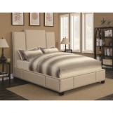 Coaster Furniture Lawndale Queen Upholstered Bed in Beige