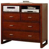 Homelegance Paula TV Chest in Medium Cherry 1348-11