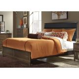 Liberty Hudson Square King Upholstered Bed in Black/Espresso