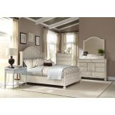 American Woodcrafters Newport 4-Piece Panel Bedroom Set in Antique White