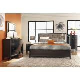 Casana Furniture Juliette 4pc Panel Bedroom Set in Mink