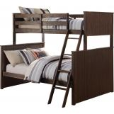 Acme Furniture Hector Twin over Full Bunk Bed in Antique Charcoal Brown 38020