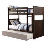 Acme Furniture Hector Twin over Twin Bunk Bed in Antique Charcoal Brown 38025