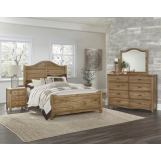 Vaughan-Bassett American Maple 4pc Shiplap Bedroom Set in Natural Maple