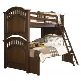 Samuel Lawrence Furniture Expedition Twin/Full Bunk Bed in Cherry