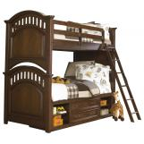 Samuel Lawrence Furniture Expedition Twin/Full Bunk Bed with Underbed Storage in Cherry CLEARANCE