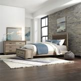 Liberty Furniture Sun Valley 5pc Storage Bedroom Set in Sandstone