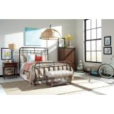 Broyhill Furniture Cranford Metal Spindle Bedroom Set in Deep-Brown 4800SMSET