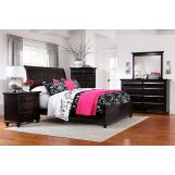 Broyhill Farnsworth Sleigh Bedroom Set in Inky Black Stain 4856SBR
