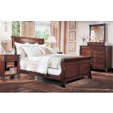 Durham Furniture Mount Vernon Architect 4-piece Sleigh Bedroom Set in Vernon