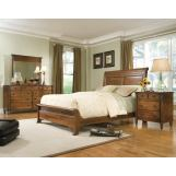 Durham Furniture Mount Vernon 4-piece Sleigh Bedroom Set w/ Low Footboard in Cunningham