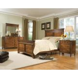 Durham Furniture Mount Vernon 4-piece Mansion Bedroom Set in Cunningham