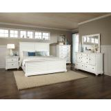 American Woodcrafters Pathways 4-Piece Panel Bedroom Set in Linen White