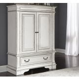 Liberty Furniture Abbey Park Wood Door Chest in Antique White 520-BR43 EST SHIP TIME IS 4 WEEKS