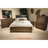 Liberty 4-Piece Taylor Court Upholstered Bedroom Set in Walnut
