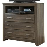 Juararo Bedroom Media Chest in Dark Brown B251-39